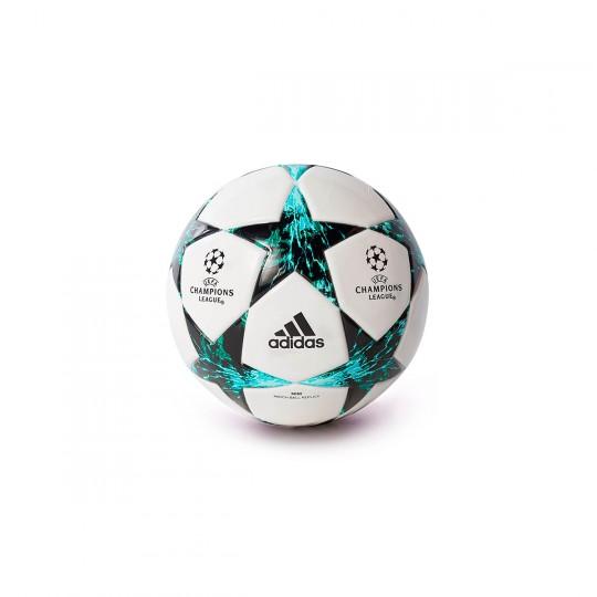 Bola de Futebol  adidas Finale 17 mini White-Black-Deep blue sea