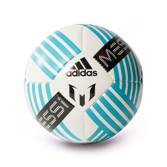 Bola de Futebol  adidas Messi mini Glider White-Deep blue sea