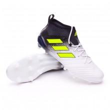 Chuteira adidas Ace 17.1 Primeknit FG White-Solar yellow-Core black ... 342307271bab8