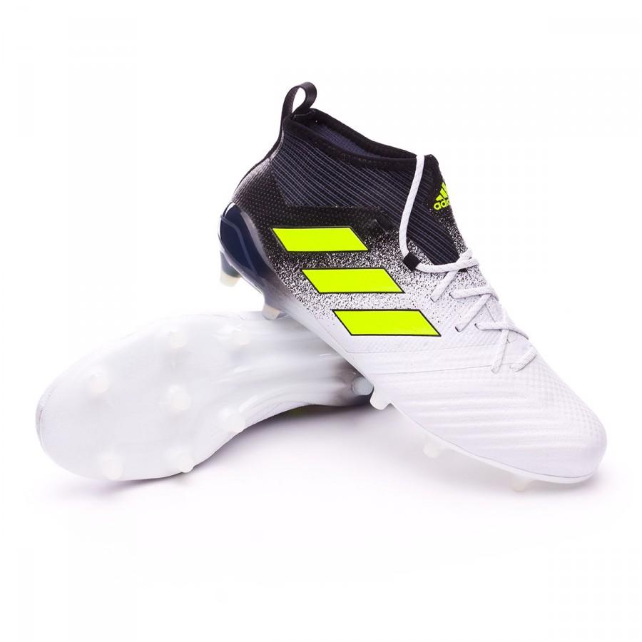e511dcd5590 adidas Ace 17.1 Primeknit FG Boot. White-Solar yellow-Core black ...
