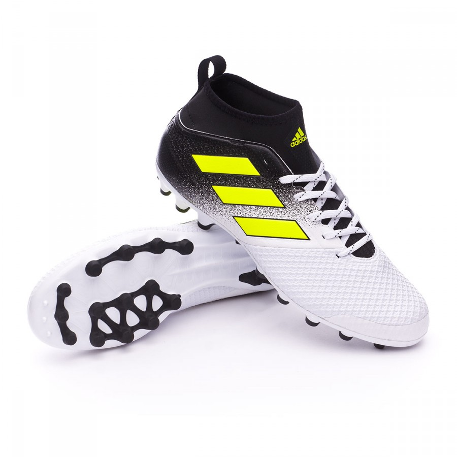 ea67385016f9 Football Boots adidas Ace 17.3 AG White-Solar yellow-Core black ...