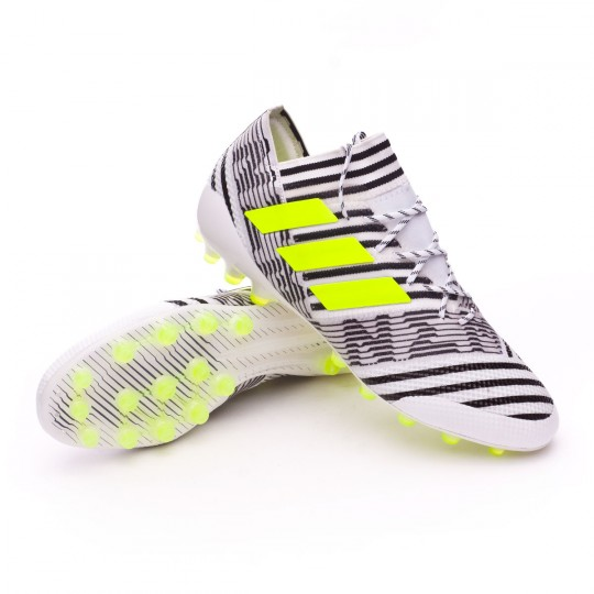 Chuteira  adidas Nemeziz 17.1 AG White-Solar yellow-Core black