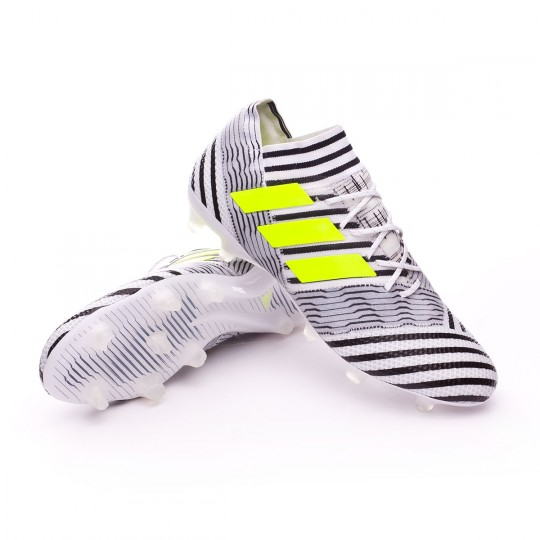 Chuteira  adidas Nemeziz 17.1 FG White-Solar yellow-Core black