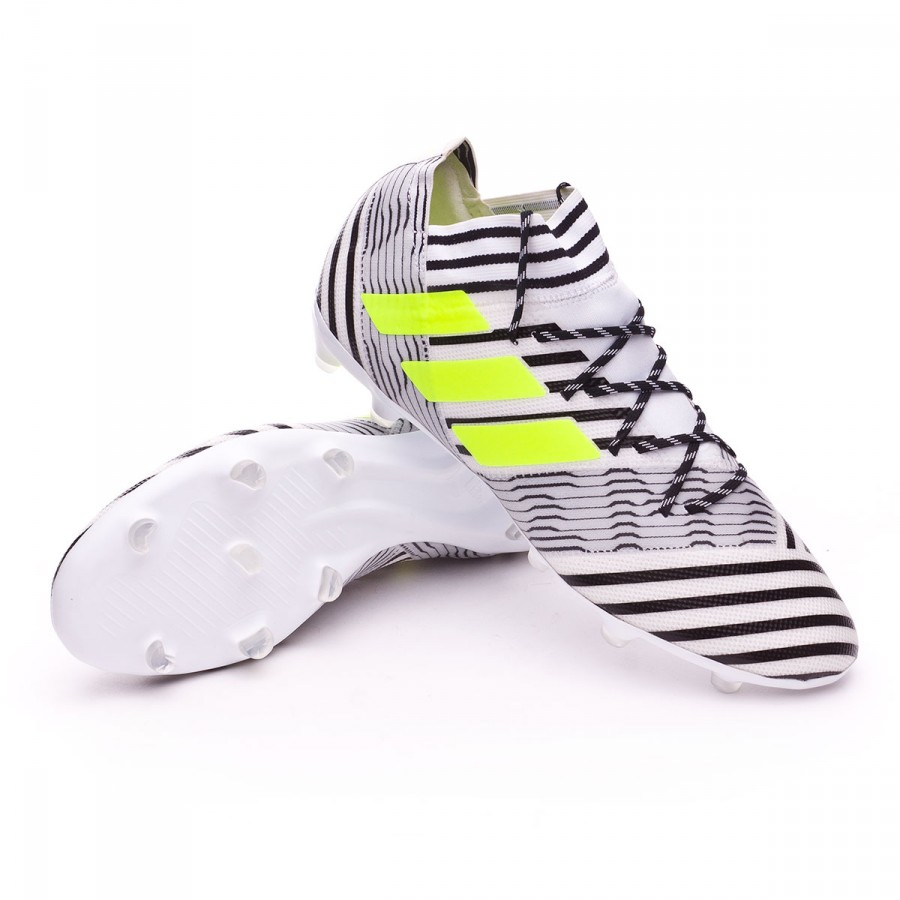 e7803fcca6e3 Football Boots adidas Nemeziz 17.2 FG White-Solar yellow-Core black ...