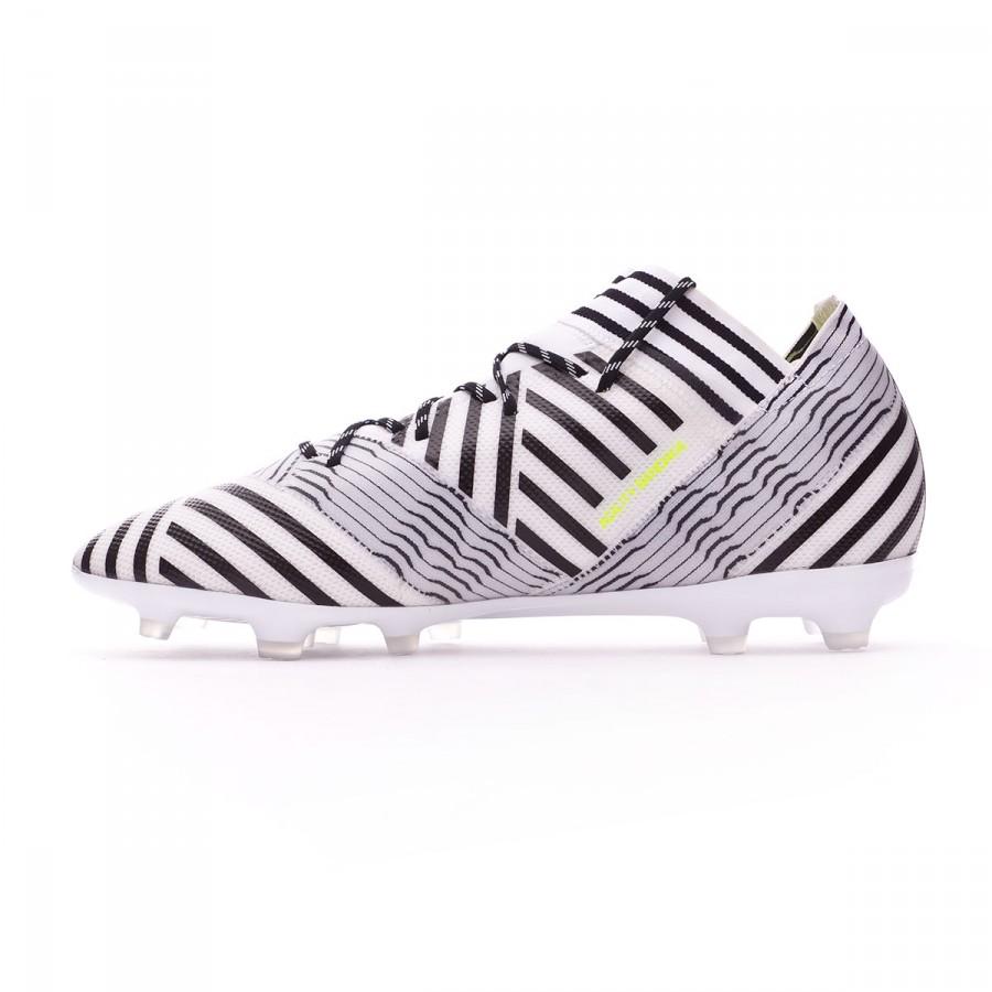 ae081a3dcbe7 Football Boots adidas Nemeziz 17.2 FG White-Solar yellow-Core black -  Football store Fútbol Emotion