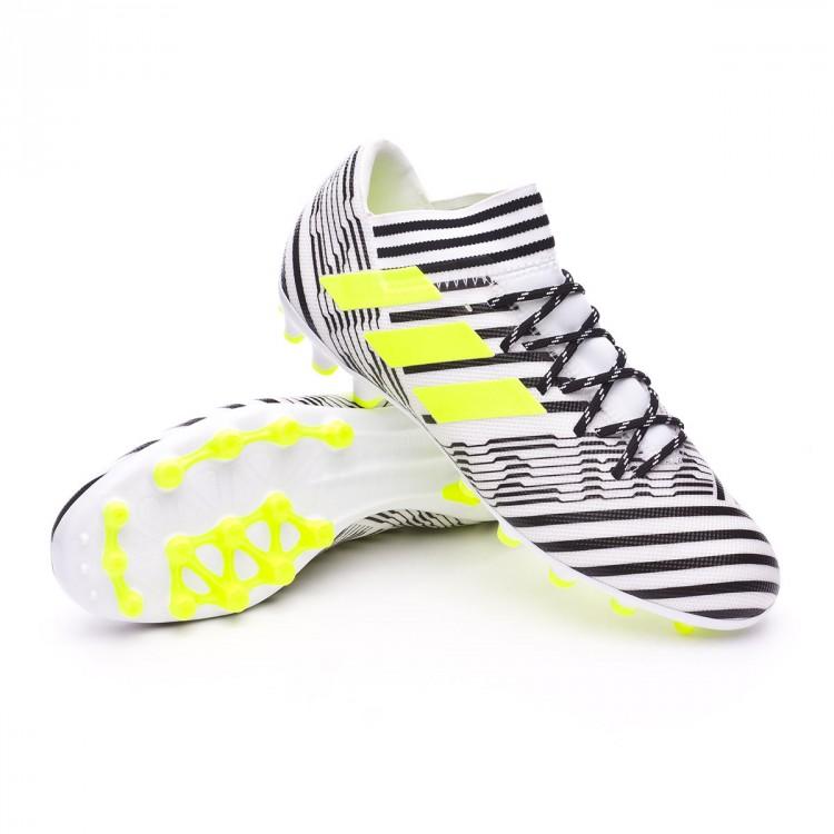 timeless design de6dd 1beba bota-adidas-nemeziz-17.3-ag-white-solar-yellow-