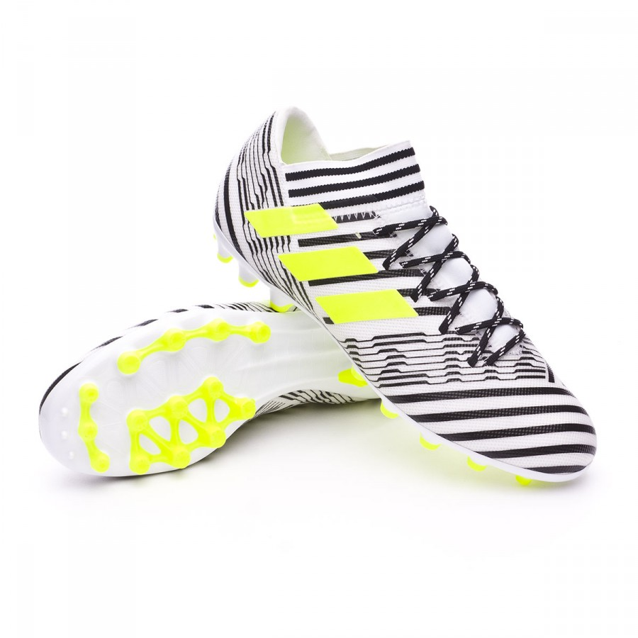 6002dd5cd873 Football Boots adidas Nemeziz 17.3 AG White-Solar yellow-Core black ...