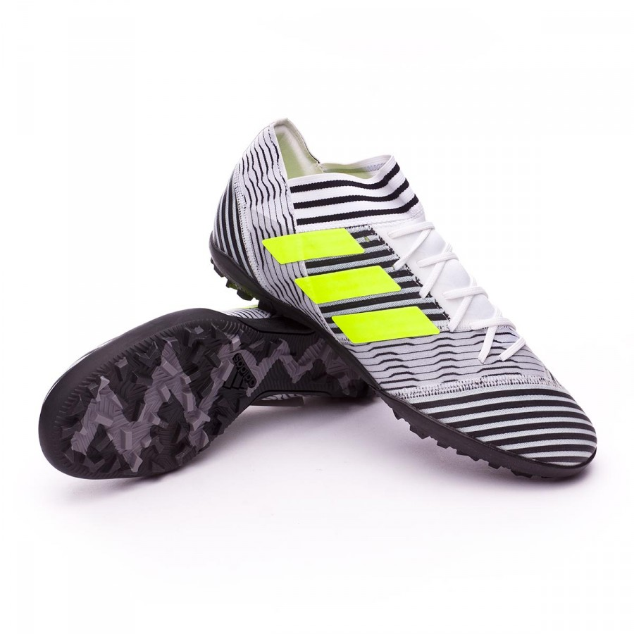 d8a7dc7b206a Football Boot adidas Nemeziz Tango 17.3 Turf White-Solar yellow-Core ...