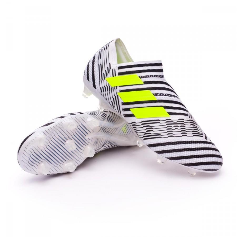 best service f4a21 26135 Chaussure de foot adidas Nemeziz 17+ 360 Agility FG White-Solar yellow-Core  black - Boutique de football Fútbol Emotion