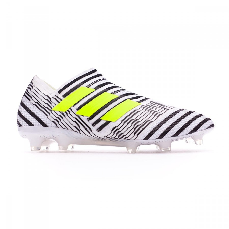 b0d433ce2ce6 Football Boots adidas Nemeziz 17+ 360 Agility FG White-Solar yellow-Core  black - Football store Fútbol Emotion