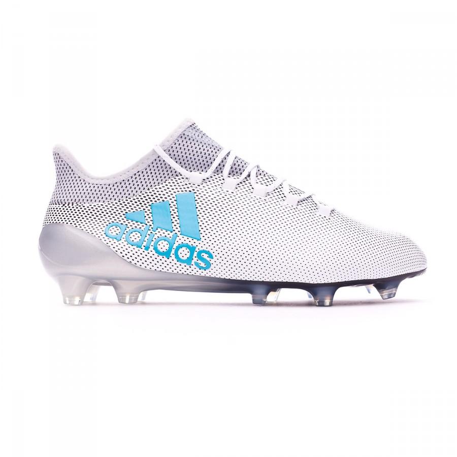 8df57b980402 Boot adidas X 17.1 FG White-Energy blue-Clear grey - Leaked soccer
