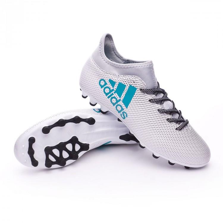 5fe72f594851b Bota de fútbol adidas X 17.3 AG White-Energy blue-Clear grey ...