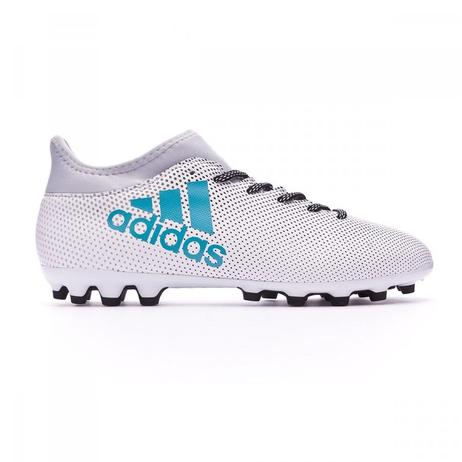 a121ecf3ee6 Chaussure de foot adidas X 17.3 AG White-Energy blue-Clear grey - Boutique  de football Fútbol Emotion