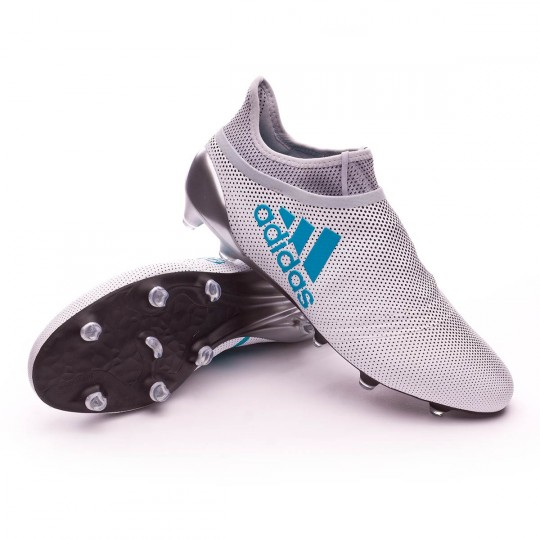 Chaussure  adidas X 17+ Purespeed FG White-Energy blue-Clear grey