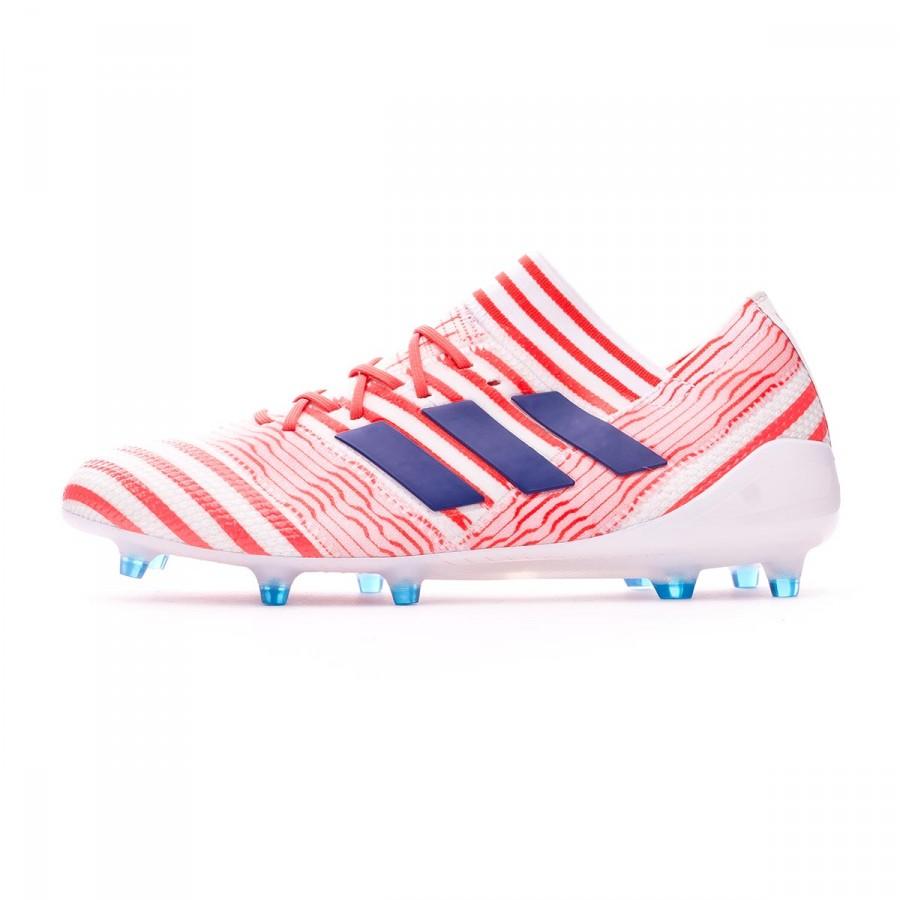 b0d90d43eae Football Boots adidas Woman Nemeziz 17.1 FG White-Mystery ink-Easy coral -  Football store Fútbol Emotion