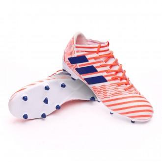 Boot  adidas Woman Nemeziz 17.3 FG  White-Mystery ink-Easy coral