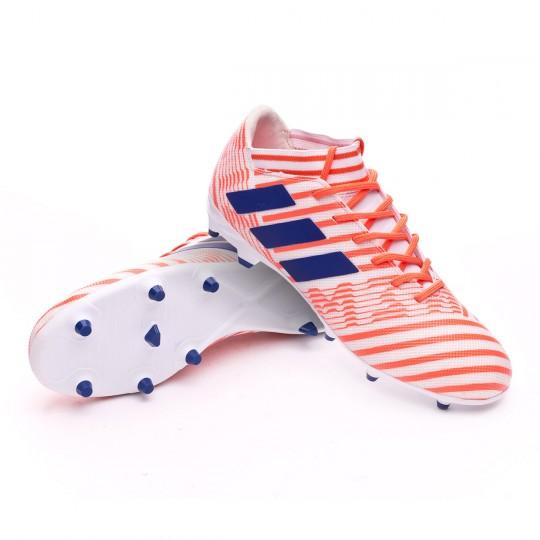 Chaussure  adidas Nemeziz 17.3 FG Mujer White-Mystery ink-Easy coral