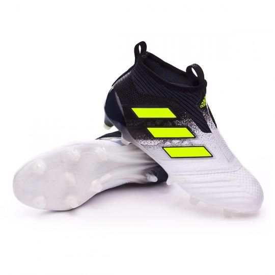 Bota  adidas jr Ace 17+ Purecontrol FG White-Solar yellow-Core black