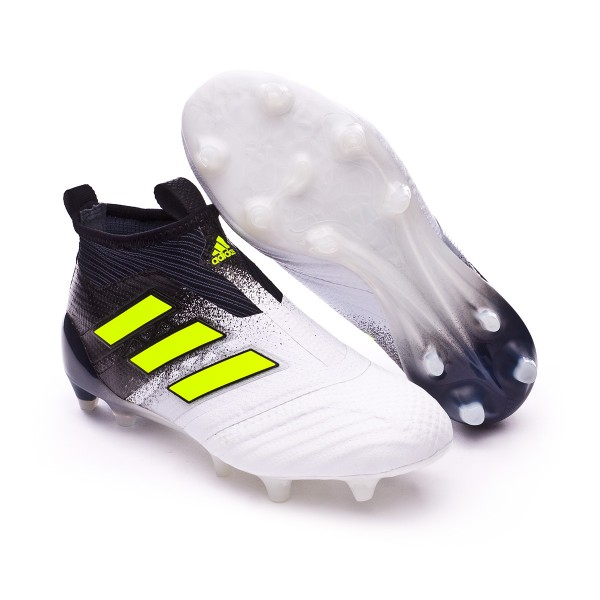 Boot adidas Jr Ace 17+ Purecontrol FG White-Solar yellow-Core black ... fd6a8a9986722