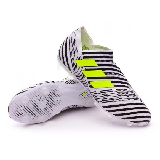 Chuteira  adidas jr Nemeziz 17+ 360 Agility FG White-Solar yellow-Core black
