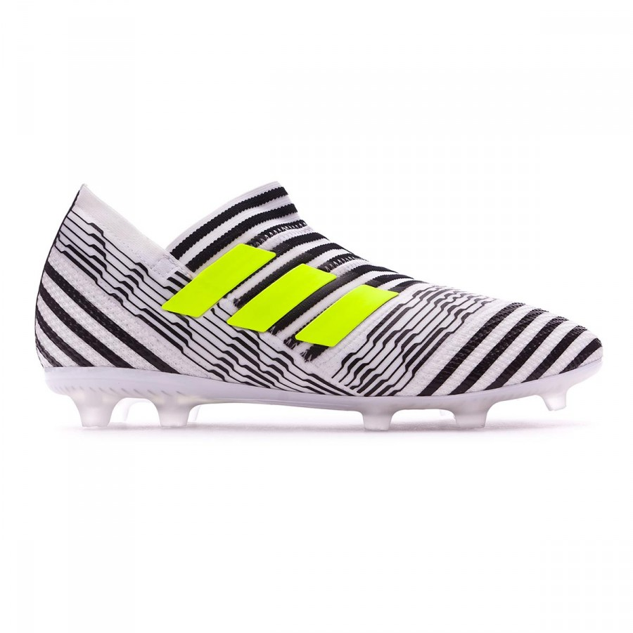 690064feb45c Football Boots adidas Kids Nemeziz 17+ 360 Agility FG White-Solar  yellow-Core black - Football store Fútbol Emotion