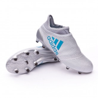 Kids X 17+ Purespeed FG White-Energy blue-Clear grey