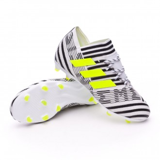 Kids Nemeziz 17.1 FG  White-Solar yellow-Core black