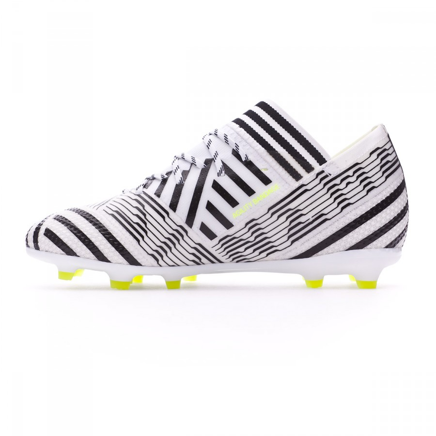 8eee7c703 Football Boots adidas Kids Nemeziz 17.1 FG White-Solar yellow-Core black - Football  store Fútbol Emotion