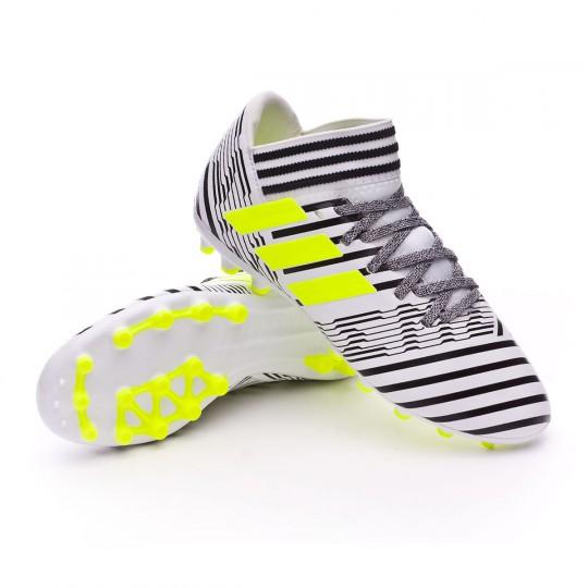 Bota  adidas jr Nemeziz 17.3 AG White-Solar yellow-Core black