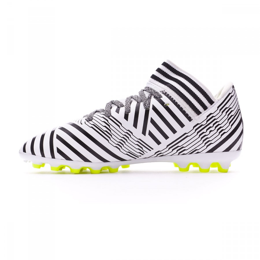 fd7614dfceb3 Football Boots adidas Kids Nemeziz 17.3 AG White-Solar yellow-Core black -  Football store Fútbol Emotion