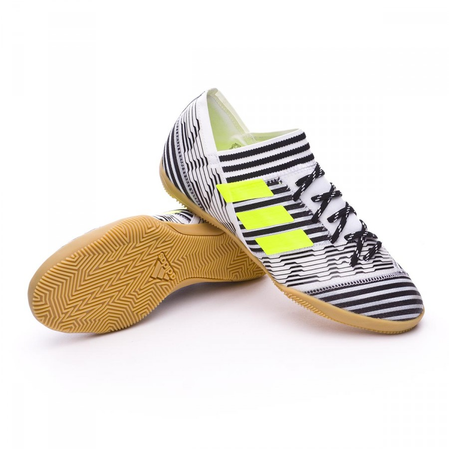 adidas Kids Nemeziz Tango 17.3 IN Futsal Boot. White-Solar yellow-Core black  ... 4ddf0ce21