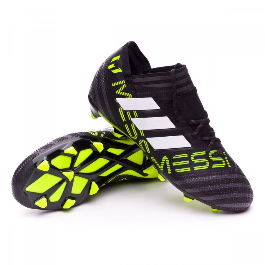 78104a6c00c5f Bota de fútbol adidas Nemeziz Messi 17.1 FG Niño Core black-White-Solar  yellow - Tienda de fútbol Fútbol Emotion