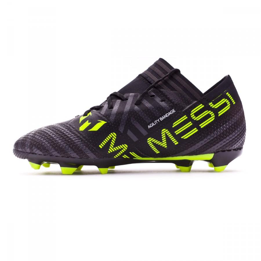 9c9a3b472 Football Boots adidas Kids Nemeziz Messi 17.1 FG Core black-White-Solar  yellow - Football store Fútbol Emotion