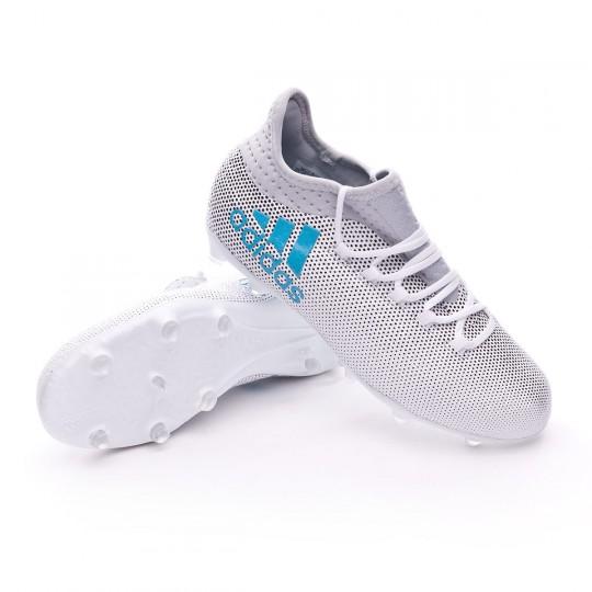 Bota  adidas jr X 17.1 FG White-Energy blue-Core legre