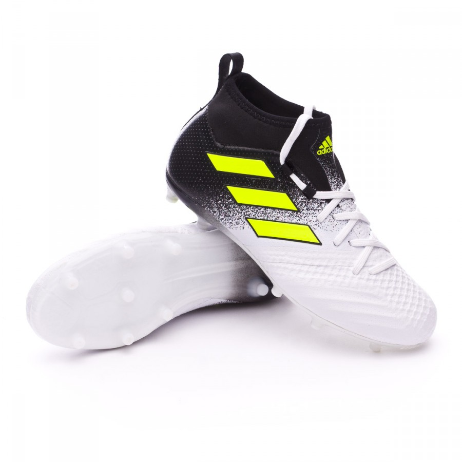 fd939a1d58ff adidas Kids Ace 17.1 FG Football Boots. White-Solar yellow-Core black ...