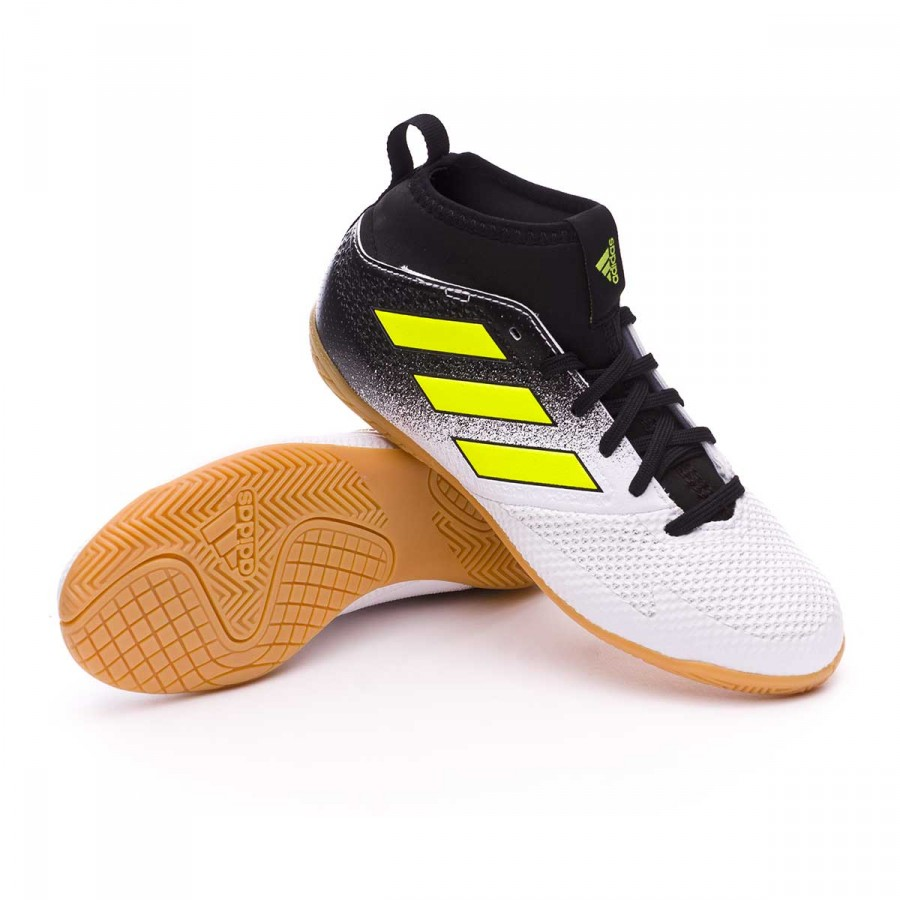 timeless design 84ccb 891e5 Zapatilla Ace Tango 17.3 IN Niño White-Solar yellow-Core black