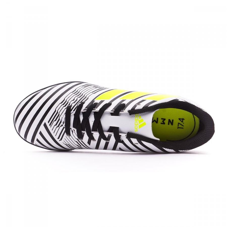 f00848b38669 Football Boot adidas Nemeziz 17.4 Turf Kids White-Solar yellow-Core black -  Football store Fútbol Emotion