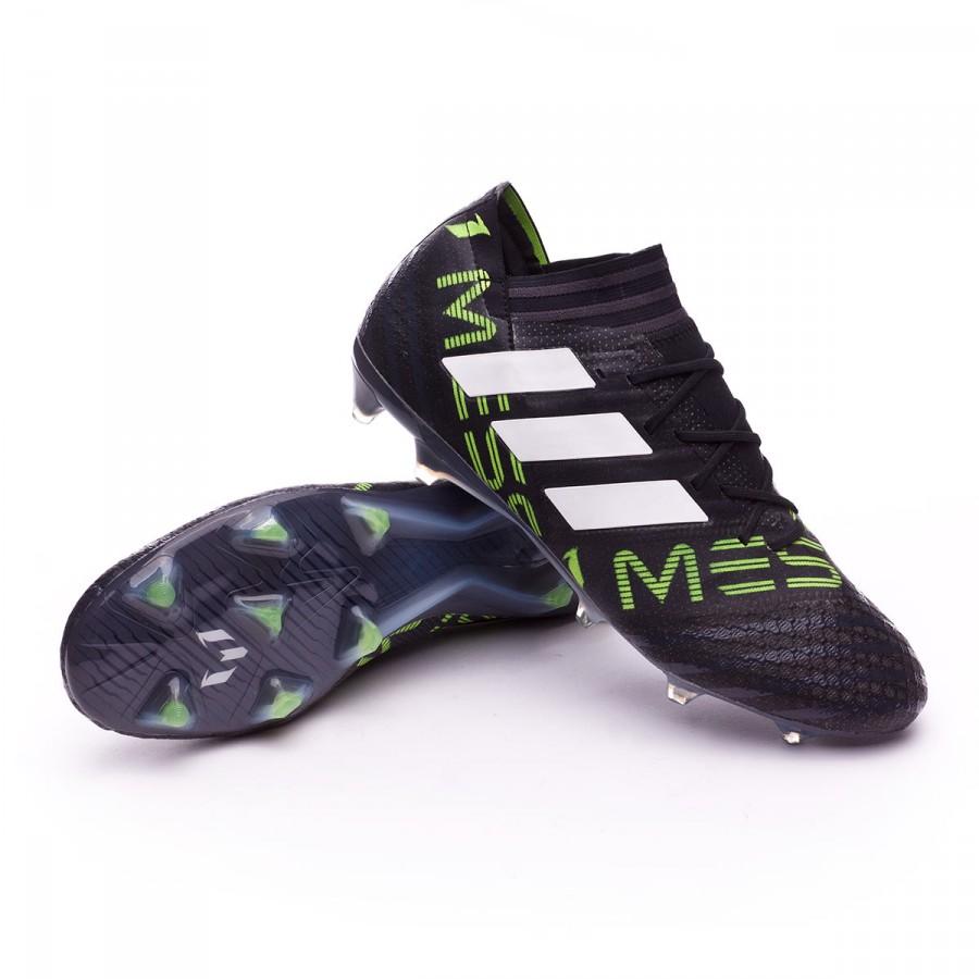 b7f885345 adidas Nemeziz Messi 17.1 FG Football Boots. White-Solar yellow-Core black  ...