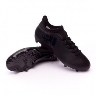 Chuteira  adidas X 17.3 FG Core black-Utility black