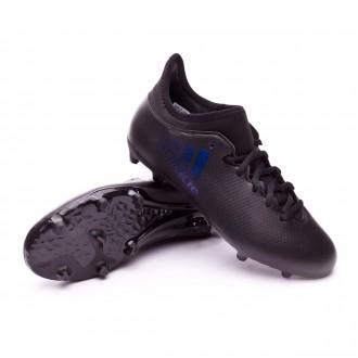 Chuteira  adidas X 17.3 FG Crianças Core black-Utility black