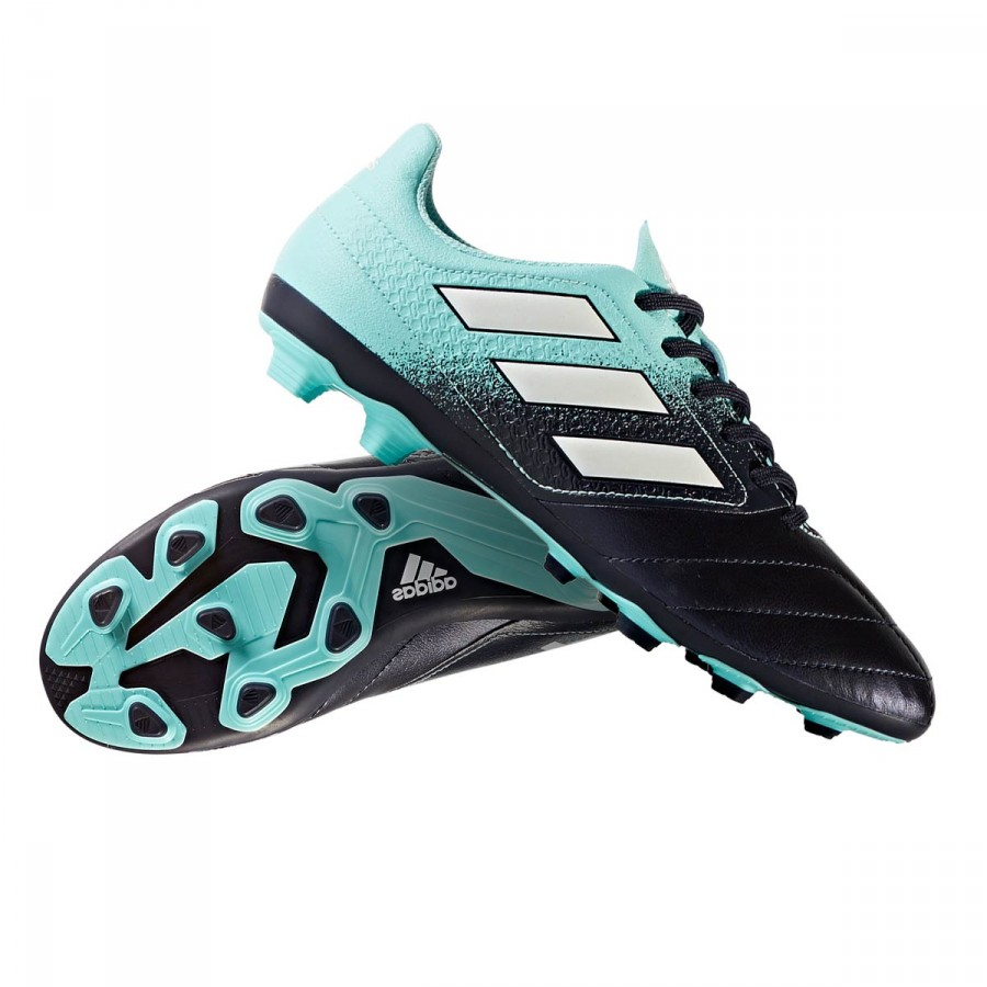 014a11033ea Football Boots adidas Ace 17.4 FxG Kids Energy agua-White-Legend ink ...