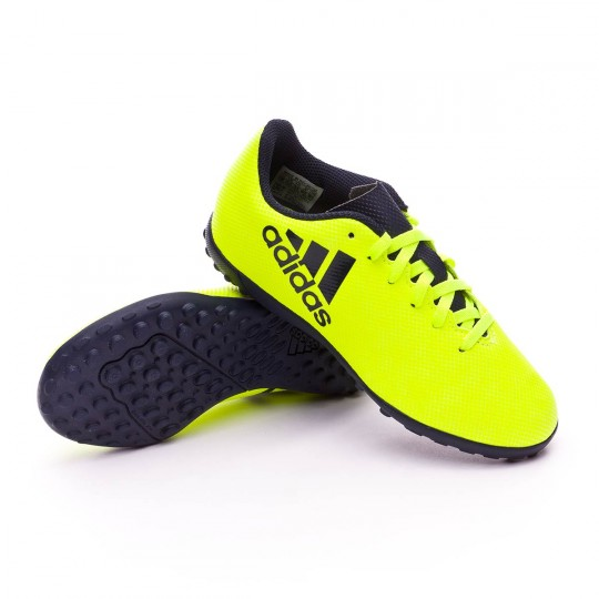 Zapatilla  adidas X 17.4 Turf Niño Solar yellow-Legend ink
