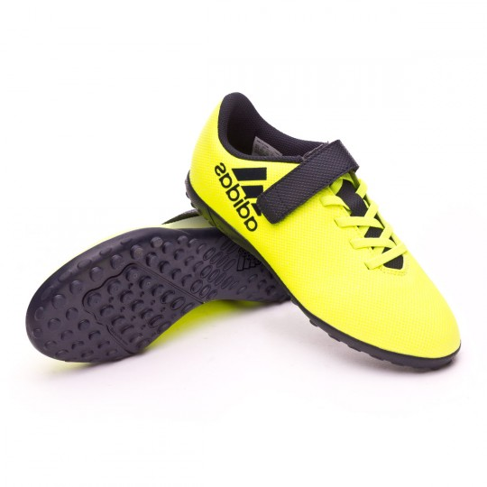 Zapatilla  adidas X 17.4 Turf H&L Niño Solar yellow-Legend ink