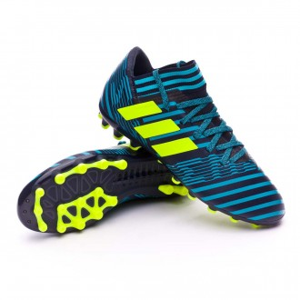 Bota  adidas Nemeziz 17.3 AG Niño Legend ink- Solar yellow-Energy blue