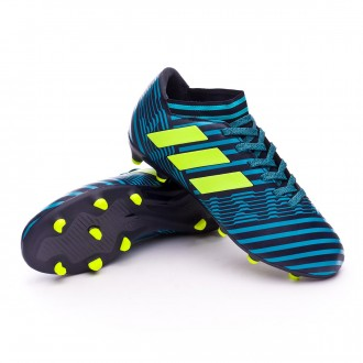 Chuteira  adidas Nemeziz 17.3 FG Crianças Legend ink- Solar yellow-Energy blue