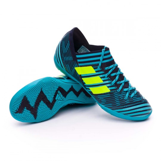 Zapatilla  adidas Nemeziz Tango 17.3 IN Niño Legend ink- Solar yellow-Energy blue