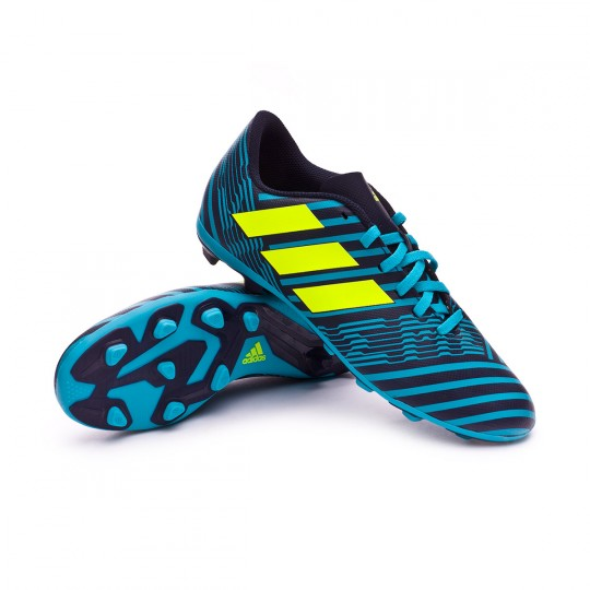 Bota  adidas Nemeziz 17.4 FxG Niño Legend ink-Solar yellow-Energy blue