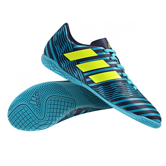 Zapatilla  adidas Nemeziz 17.4 IN Niño Legend ink-Solar yellow-Energy blue