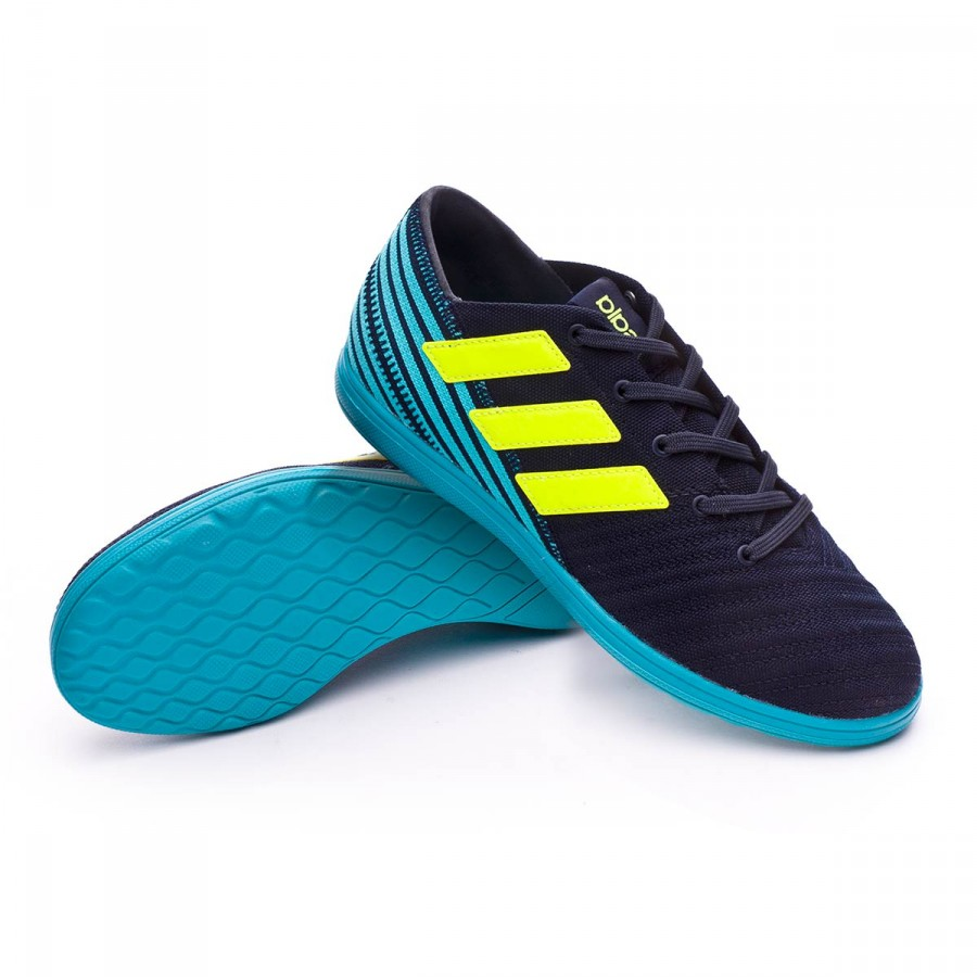 4b4cff788e67e Zapatilla adidas Nemeziz 17.4 IN Sala Niño Legend ink-Solar yellow-Energy  blue - Tienda de fútbol Fútbol Emotion