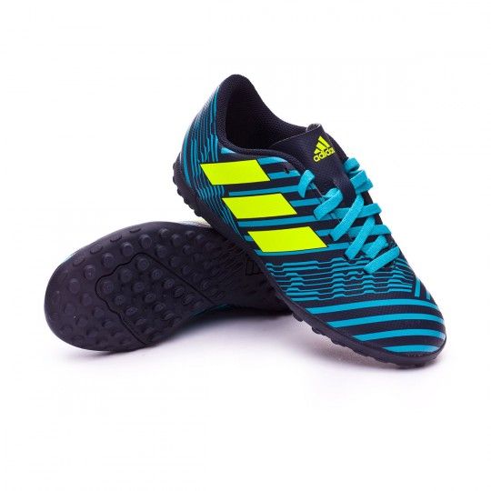 Bota  adidas Nemeziz 17.4 Turf Niño Legend ink- Solar yellow-Energy blue